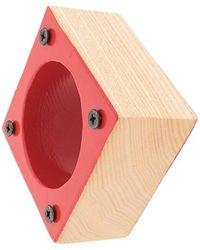 Corto Moltedo Square Medium Bangle - Red