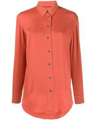 Calvin Klein ロングスリーブ シャツ - オレンジ