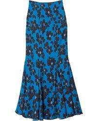 Carolina Herrera フローラル スカート - ブルー