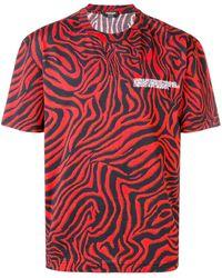 CALVIN KLEIN 205W39NYC ゼブラプリント Tシャツ - レッド
