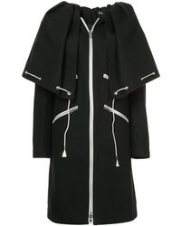 CALVIN KLEIN 205W39NYC Drawstring Cape Coat - Black