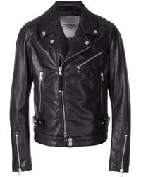 Diesel Black Gold Fitted Biker Jacket - Black