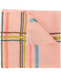 K. Janavi Horizontal Stripes Cashmere Scarf - Pink