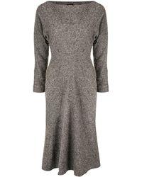 Kiton ドレープネック ドレス - マルチカラー