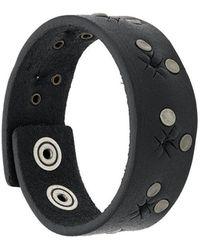 DIESEL - Stud Embellished Bracelet - Lyst