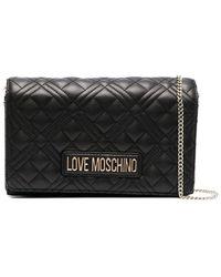 Love Moschino Gewatteerde Crossbodytas - Zwart