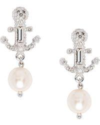 Miu Miu - Pearl Charm Anchor Earrings - Lyst