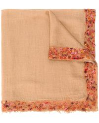 Faliero Sarti - Embroidered Oversized Scarf - Lyst