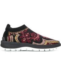 Etro Patterned Running Sneakers - Black