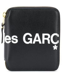 COMME DES GARÇONS PLAY Printed Logo Wallet - Black
