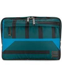 Marni X Porter Striped Clutch Bag - Green