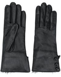 N.Peal Cashmere Handschoenen Met Knopen - Zwart