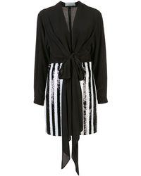 Silvia Tcherassi Striped Sequin Embellished Dress - Black