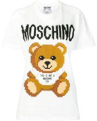 Moschino Printed Teddy Bear T-shirt - White