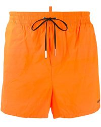 DSquared² Плавки-шорты С Логотипом - Оранжевый