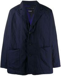 Issey Miyake テーラード シングルジャケット - ブルー