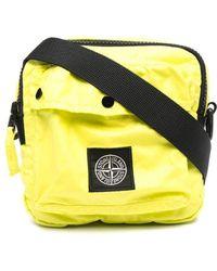 Stone Island Сумка На Плечо С Логотипом - Желтый