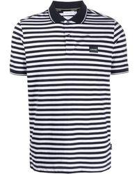 Calvin Klein Gestreiftes Poloshirt mit Logo - Blau
