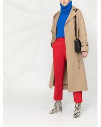 Victoria Beckham Pantalones de vestir capri - Rojo