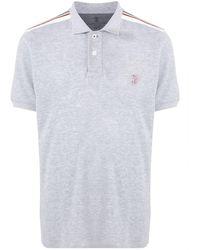 Brunello Cucinelli Stripe Detail Polo Shirt - Серый
