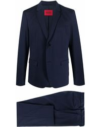 BOSS by HUGO BOSS Slim-fit Single-breasted Suit - Blue
