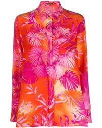 Versace - Botanical-print Shirt - Lyst