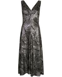 Paco Rabanne リーフジャカード ドレス - ブラック