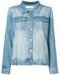Anine Bing Vintage Wash Denim Jacket - Blue