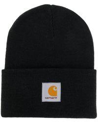 Carhartt WIP ロゴ ビーニー - ブラック