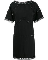 DSquared² レースインサート ドレス - ブラック