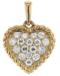 Van Cleef & Arpels 1980s Pre-owned Yellow Gold Heart Diamond Pendant - Metallic