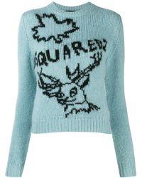 DSquared² Pull a logo bleu Reindeer