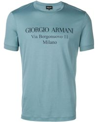 Giorgio Armani - Logo Print T-shirt - Lyst