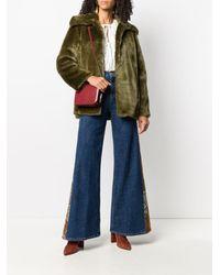 L'Autre Chose Abrigo corto de pelo artificial - Verde