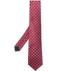 Lanvin Écharpe à motif géométrique - Rouge
