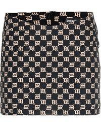 MISBHV Trinity Monogram-print Mini Skirt - Black
