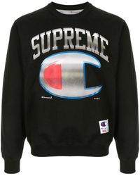 Supreme Champion X スウェットシャツ - ブラック