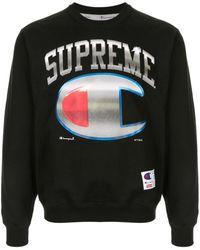 Supreme Champion X Sweatshirt - Black