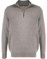 N.Peal Cashmere カシミア ジップセーター - グレー