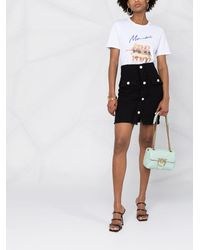 Pinko ツイード ミニスカート - ブラック