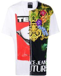 Versace Jeans - コントラストパネル Tシャツ - Lyst
