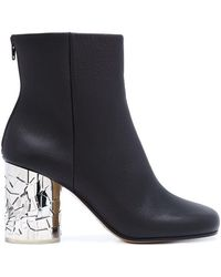 Maison Margiela - Shattered Glass Heel Ankle Boots - Lyst