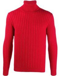 Gucci Джемпер В Рубчик С Высоким Воротником - Красный