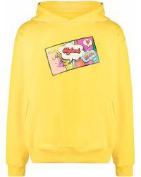 Styland Pop Art Print Hoodie - Yellow