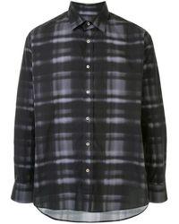 Qasimi チェック シャツ - ブラック