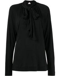 Hermès Блузка С Бантом - Черный