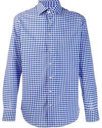 Etro Kariertes Hemd - Blau