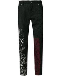 Dolce & Gabbana Hose mit Spitzeneinsätzen - Schwarz