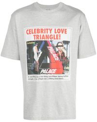 Palace Love Triangle Tシャツ - グレー