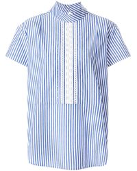PS by Paul Smith - Short Sleeve Striped Blouse - Lyst